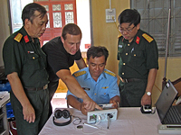 "Vietnam. Training for operation of the devicefor psychophysiological testing UPFT-1/30-""Psychophysiolog"""