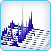 Presentation in pseudo-3D the succession of spectra graphs
