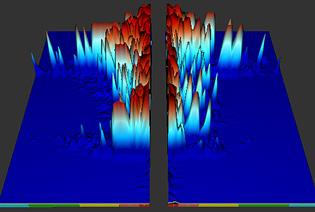 Фрагмент 3-мерного представления сжатых спектров CSA