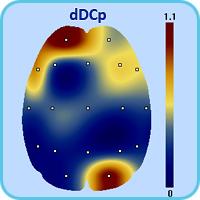 Пространственное распределение максимального смещения сверхмедленных потенциалов dDCp
