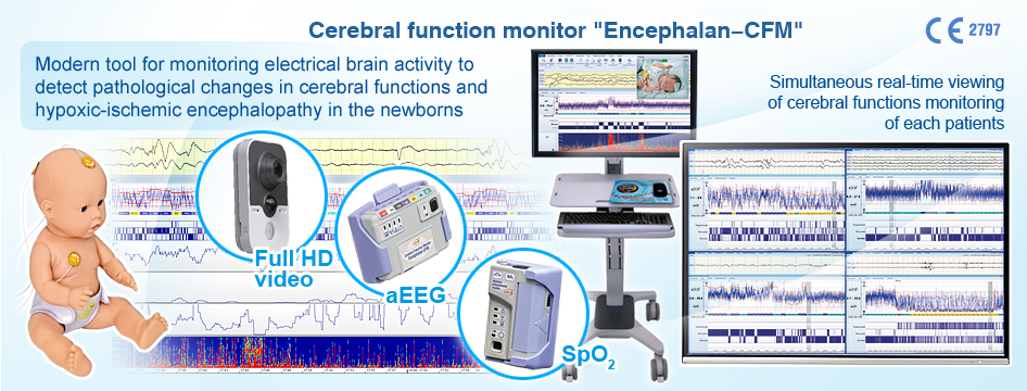 Cerebral function monitor neonatology